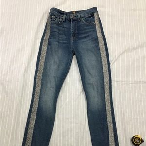 7 FOR ALL MANKIND HW ANKLE SKINNY RACER